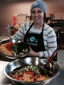 Eleissa in the kitchen!